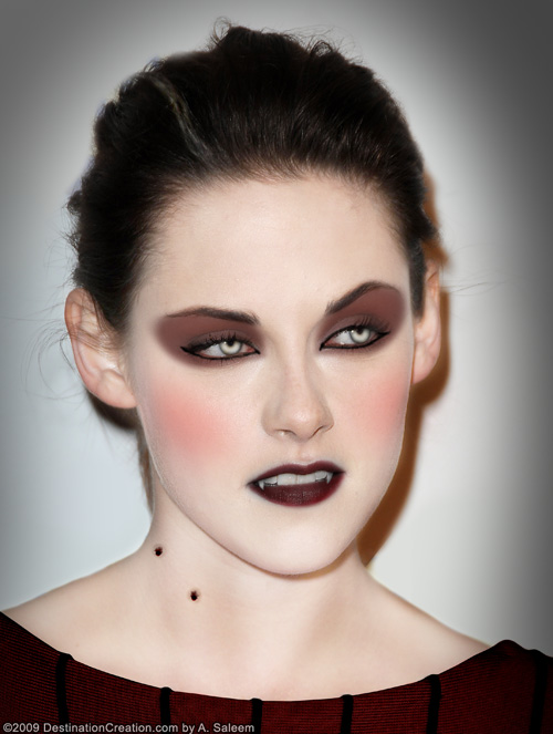 vampire eye makeup. Kristen Stewart as a vampire