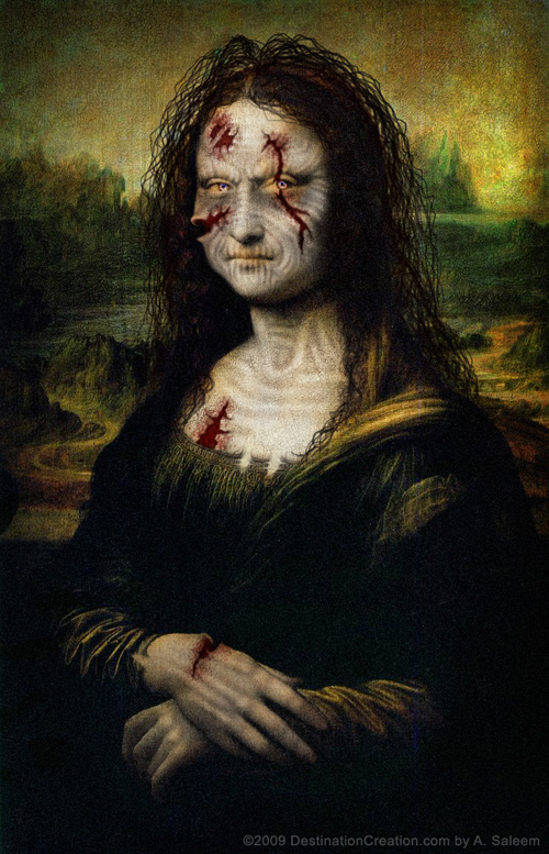 Mona Lisa as a Zombie