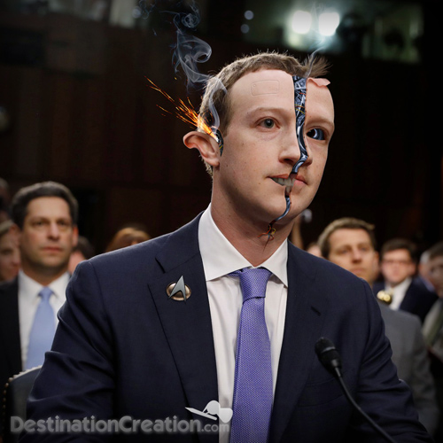 Zuckerberg Robot during Congressional Hearing 2018