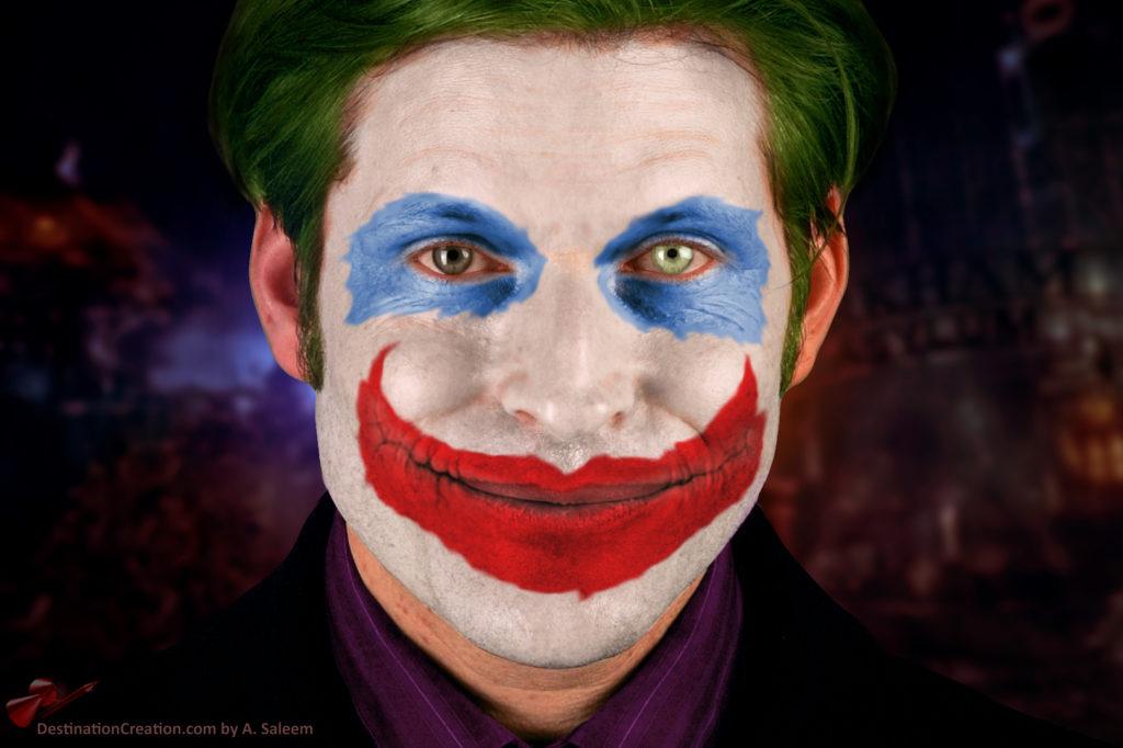 Crispin Glover as the Joker.
