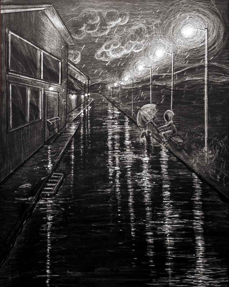 Rainy Night Illustration