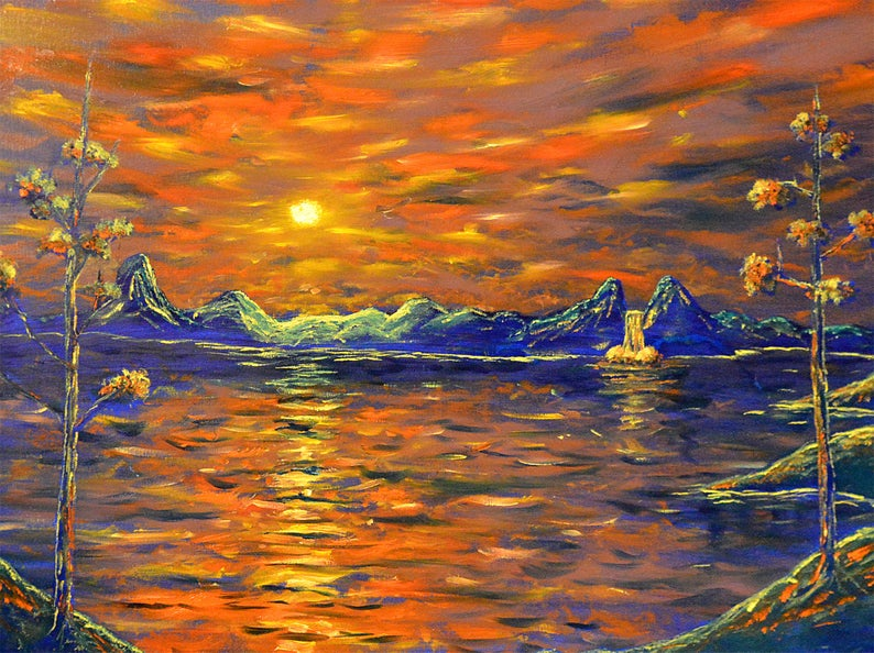 dawnscape painting